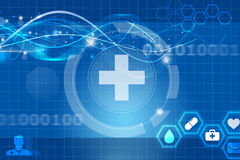 Health future medical app. Background Stock Photography