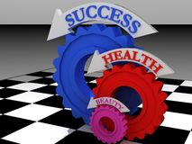 Health-gears Royalty Free Stock Image
