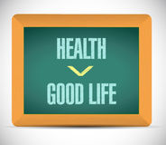 Health and good life illustration design Stock Photography