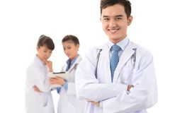 Health guard. Portrait of a professional practitioner with a friendly smile Stock Photography