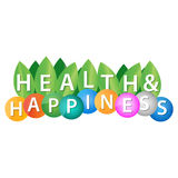 Health and happiness. Logo template Stock Photography