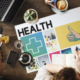 Health Happy Cross Thumbsup Concept. Health Issue Discussion Cross Thumbsup Graphics Royalty Free Stock Photo