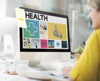 Health Happy Cross Thumbsup Concept. Health Technology Cross Thumbsup Concept Royalty Free Stock Photos