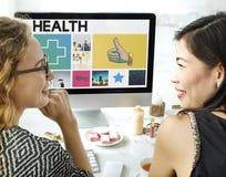 Health Happy Cross Thumbsup Concept. Health Happy Cross Thumbsup  Workspace Royalty Free Stock Image