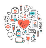 Health Heart Care Concept Medical Icons Signs Isolated on White Royalty Free Stock Photo