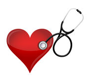 Health heart concept. with a Stethoscope Royalty Free Stock Photography