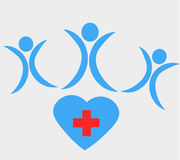 Health Heart Icon. Design for design website, for design shirt, design for hospital, design for healthy company Stock Image