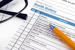 Health History Stock Image
