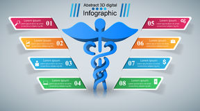 Health icon. 3D Medical infographic. Royalty Free Stock Image
