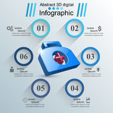 Health icon. 3D Medical infographic. Stock Image