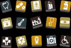 Health icon set Stock Image