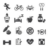 Health icon set Royalty Free Stock Photo