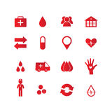 Health icon set Stock Photography