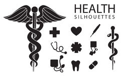 Health icons Stock Photography