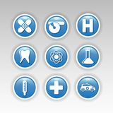 Health icons. Illustration of health icons set Royalty Free Stock Photography