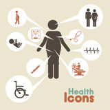 Health icons. Over beige background vector illustration Royalty Free Stock Photos