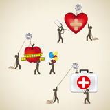 Health icons Royalty Free Stock Image