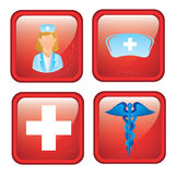 Health icons. Over black background vector illustration Stock Photos