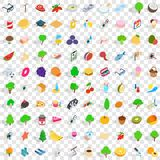 100 health icons set, isometric 3d style. 100 health icons set in isometric 3d style for any design vector illustration Stock Images
