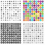 100 health icons set variant. 100 health icons set in 4 variant for any web design isolated on white stock illustration