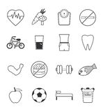 Health icons set Royalty Free Stock Photography
