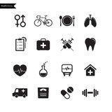 Health Icons. Vector Stock Photos