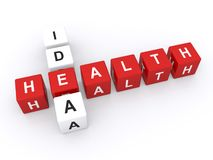 Health idea text Stock Photography
