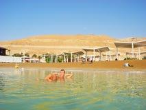 Health improvement at the Dead Sea. stock photo