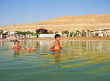 Health improvement at the Dead Sea. royalty free stock image