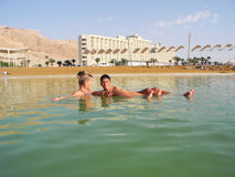 Health improvement at the Dead Sea. stock photography