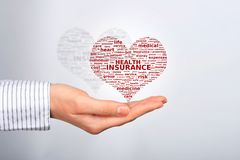 Health insurance. Health insurance concept. Tag cloud Stock Image