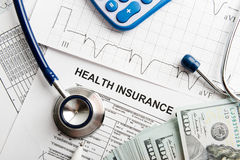Health insurance application form Royalty Free Stock Image