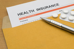 Health insurance application form Stock Image