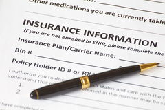 Health insurance application Stock Photography