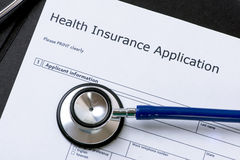 Health Insurance Application Royalty Free Stock Images