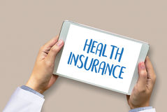 HEALTH INSURANCE Assurance Medical Risk Safety  health care prof Royalty Free Stock Photography