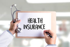 HEALTH INSURANCE Assurance Medical Risk Safety  health care prof Stock Images