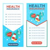 Health insurance banners Stock Image