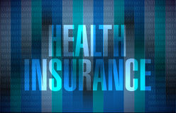 Health Insurance binary sign concept Stock Photography