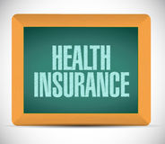 Health Insurance board sign concept Stock Image