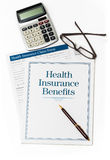 Health Insurance book and forms Royalty Free Stock Photo