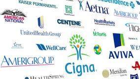 Health Insurance Brands Logo Loop Stock Footage Video Of American