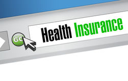 Health Insurance browser sign concept Royalty Free Stock Photography