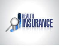 Health Insurance business graph sign concept Royalty Free Stock Image
