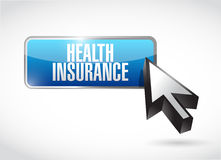 Health Insurance button sign concept Royalty Free Stock Images