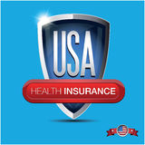 Health insurance button Stock Images