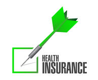 Health Insurance check dart sign concept Stock Photos