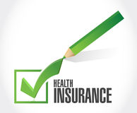 Health Insurance check mark sign concept Stock Photo