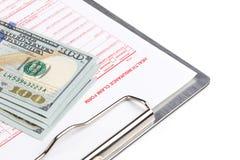 Health insurance claim form Royalty Free Stock Photo