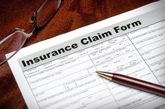 Health insurance claim form Stock Image
